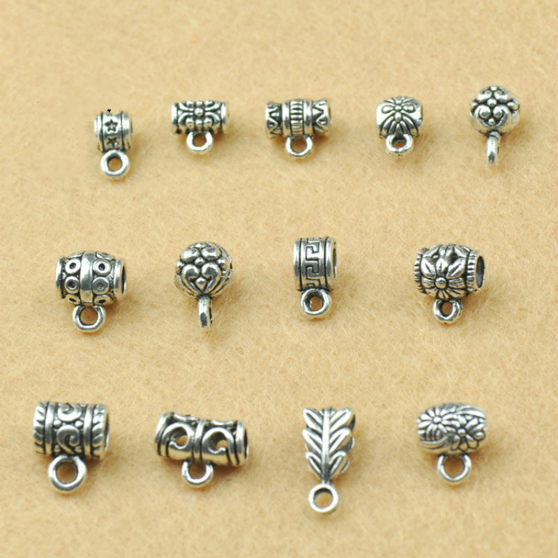 Vintage Tibetan Silver Pendant Clasps For Jewelry Making Findings Supplies Diy Charm Bracelets Accessories Necklaces Components