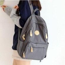 Модный женский рюкзак, женский водонепроницаемый нейлоновый школьный рюкзак, Студенческая книга, много карманов на молнии, школьные рюкзаки для девочек подростков