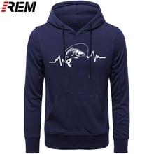 REM נים חם בגדי כותנה גברים באיכות גבוהה פעימות לב קרפיון דייג דייג פיתיון נים, חולצות