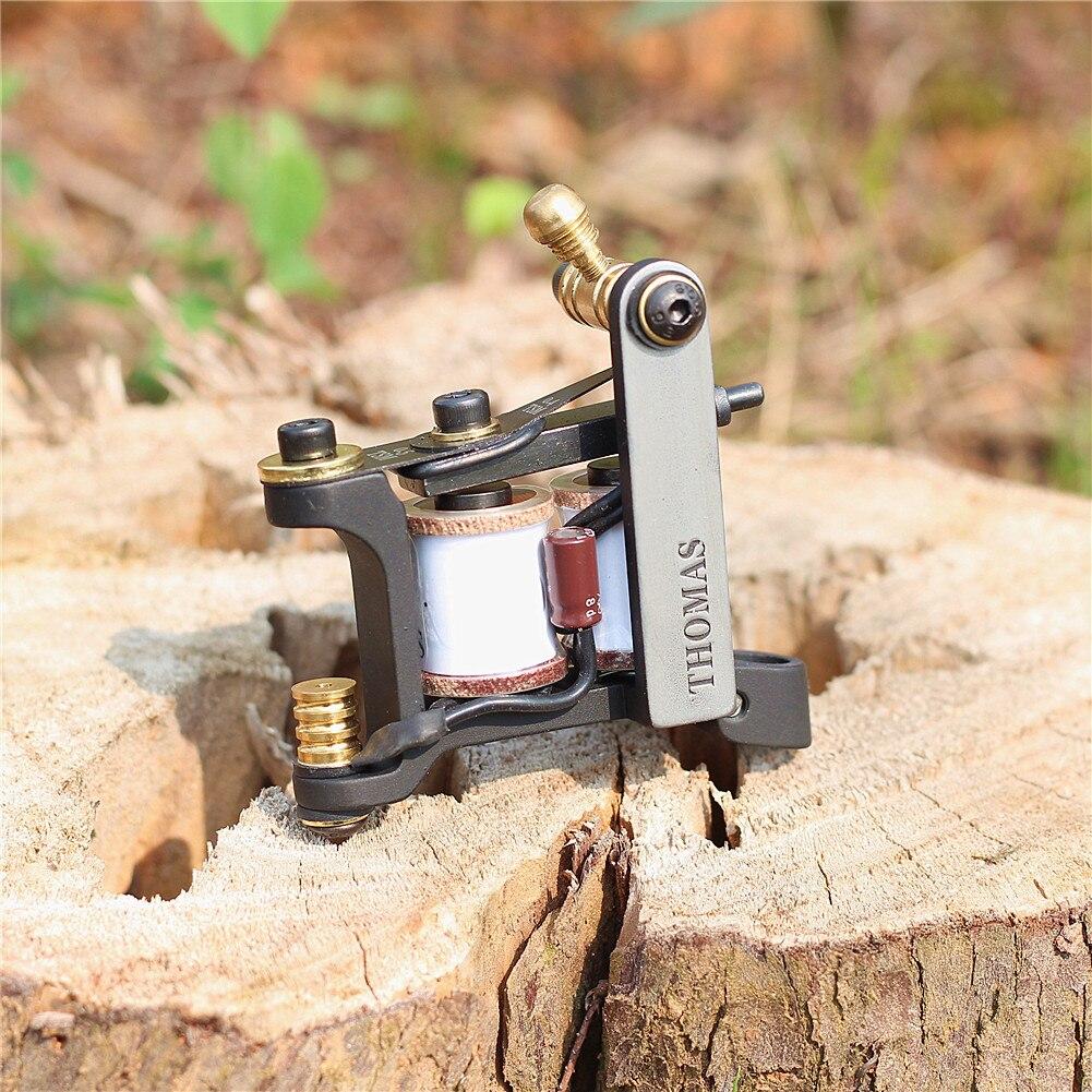 Thomas Coil Handmade Tattoo Machine Tattoo Gun Cast Iron Frame For Liner 8 Wrap Coils