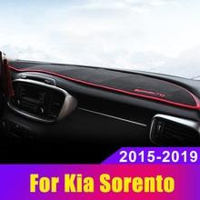 Car Dashboard Cover DashMat Sun Shad Pad NON-Slip Carpets ANti-UV LHD for KIA Sorento 2015  2019 Sorento Prime UM недорого