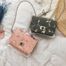 Summer Jelly Small Bag women New Crossbody Bags for Women Chain Shoulder Square bag