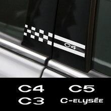 2 pçs para citroen c4 c1 c5 c3 c6 C-ELYSEE vts adesivos de carro b pilar vinil auto esporte estilo automóvel tuning acessórios do carro
