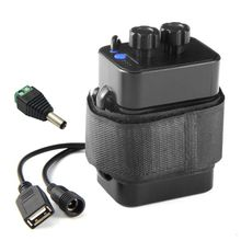 กันน้ำ DIY 6x18650 กรณี 12V DC และ USB แหล่งจ่ายไฟสำหรับจักรยาน LED light โทรศัพท์มือถือ Router