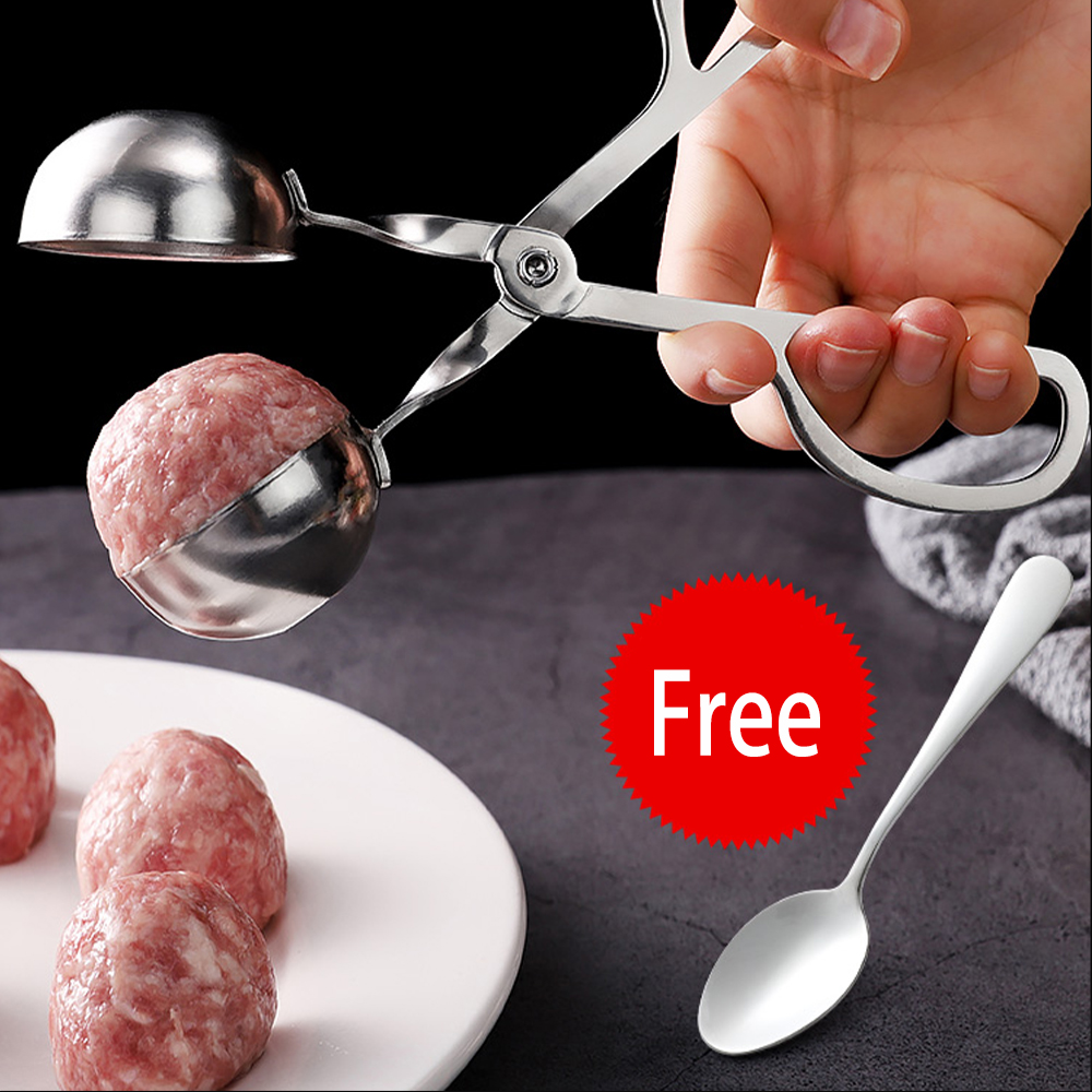 Multifunction Meatball Maker 304 Stainless Steel Meatball Mold Meat Ice Cream Ball Croquettes Mold Kitchen Meat Tools