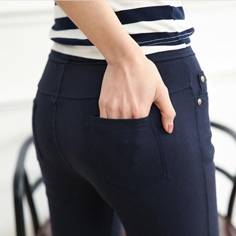 Leggings For Women Skinny Slim Thin Black Leggings Casual High Waist Elastic Pencil Pants Large Big Plus Size Women Leggings