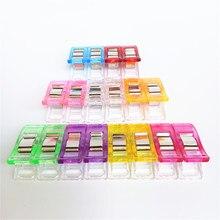 50 pçs 9 cores multicolorido clipes de plástico para retalhos costura diy artesanato quilt quilting clipe trevo maravilha clipe