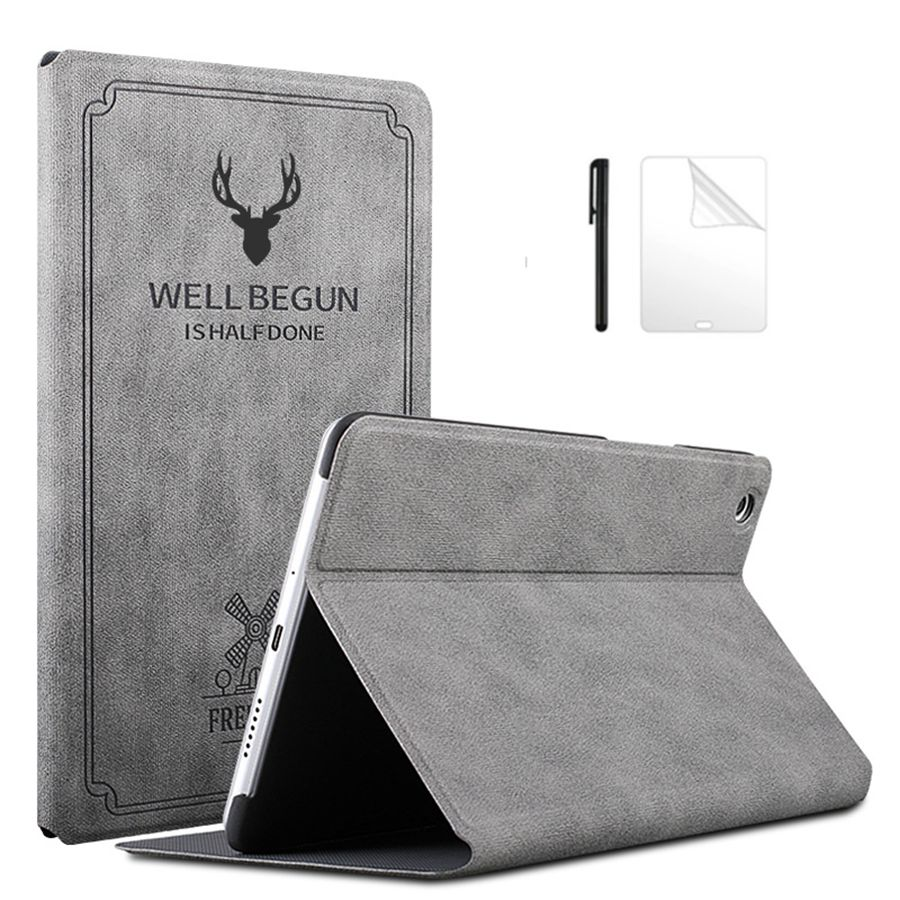 Slim Flip Retro Deer PU Leather Case For Huawei MediaPad M6 10.8 2019 Smart Stand Cover For Huawei M6 10.8 Tablet Case+film+pen