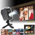 Оконный дисплей Лазерная лампа ЕС вилка Рождественский Точечный светильник s проектор Страна Чудес 12 фильмов лазерный проектор светильник