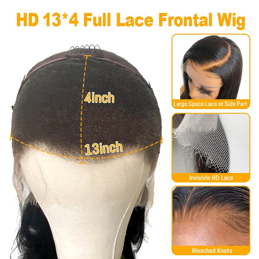 do laco transparente perucas de cabelo humano 05