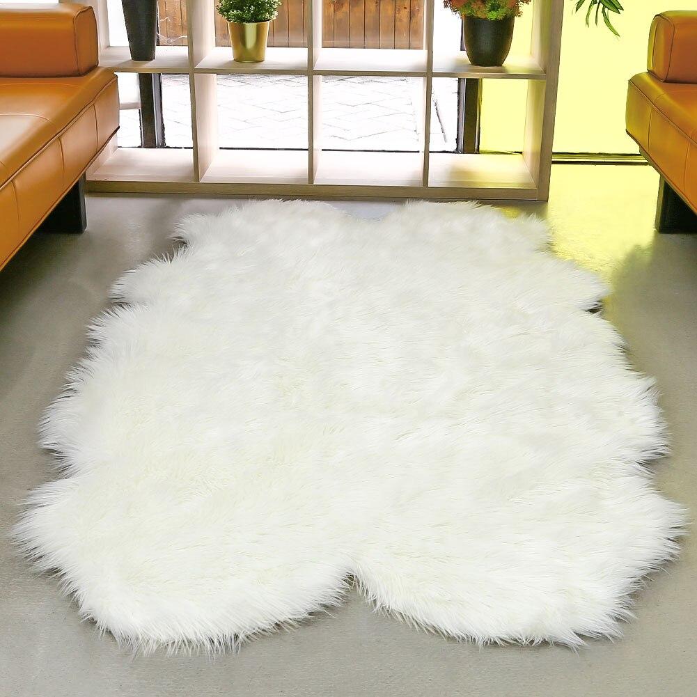 Tapis de laine multicolore étage maison chambre tapis moelleux luxueux forme irrégulière salle à manger tapis tapis plancher chaise décoration - 6