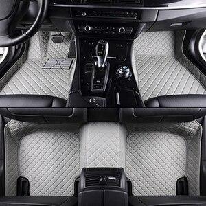 Image 3 - High quality leather car floor mat for hyundai SOLARIS CRETA ix35 TUCSON ELANTRA SONATA i30 i40 Santa Fe carpet alfombra astra h