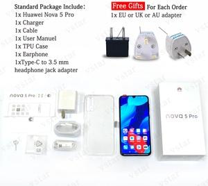 Image 4 - HUAWEI Nova 5 Pro NFC мобильный телефон с восьмиядерным процессором 6,39 Android 9,0 с отпечатком пальца 48MP GPU Turbo 40W SuperCharge