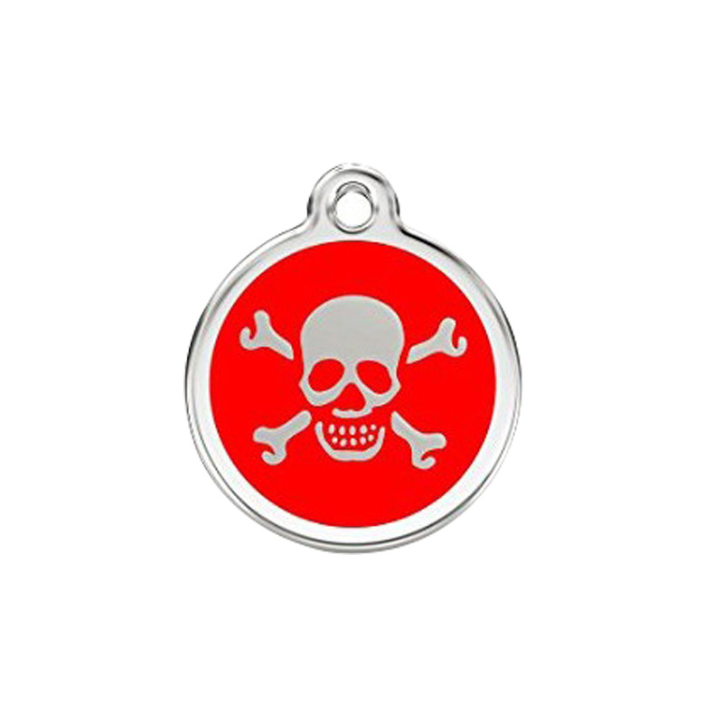 Cool Dog Tag 6 Color Enamel Skull Hangtag Currently Available Dog Cat Pendant Pet Collar Supplies