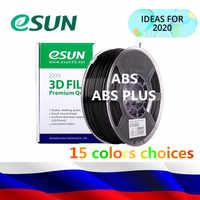 Esun 1kg 1.75mm abs/abs + abs de alta qualidade pro impressora 3d filamento abs/abs mais carretel multi cor 3d filamento da impressora da rússia