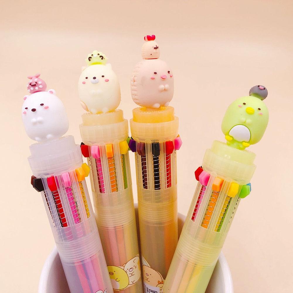 1 Pcs Kawaii Cartoon Sumikko Gurashi Ballpoint Pen 10 Colors Writing School Office Supply Gift Stationery