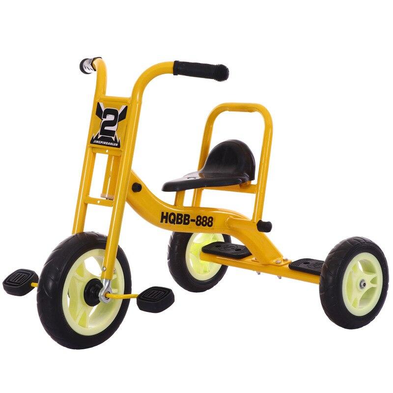 12 Inch Multifunction 3 Wheel Bicycle  Baby Push Trolley Kids Bikes Double Seat Three Wheel Stroller Bicycle Travel Cart 2-8Y