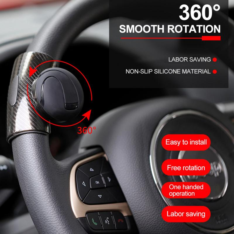 Hf6145f3f11414138825cc72bb81337fe7 - 360° Steering Wheel Knob Ball Car Steering Wheel Spinner Knob Power Handle Ball Booster Wheel Strengthener Auto Spinner Knob
