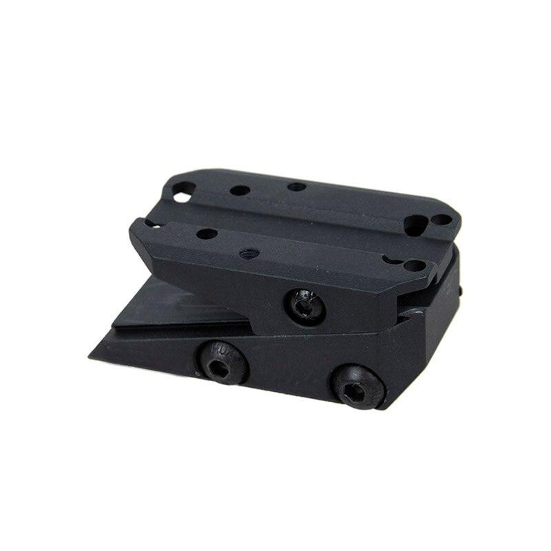 Tactical cnc alumínio ajustável t1 rmr montar caça red dot sight mountfit 22mm picatinny ferroviário