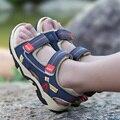 Детские сандалии с закрытым носком  ортопедические спортивные сандалии из искусственной кожи для маленьких мальчиков  лето 2019