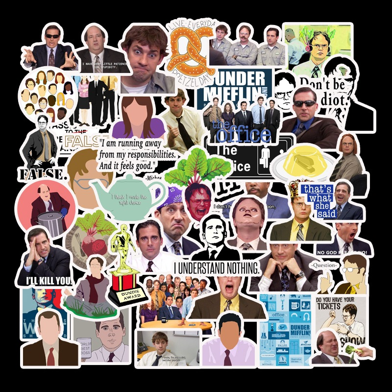 50pcs Friends OFFICE TV SHOW  Waterproof Fun Stickers Toy Luggage Sticker Motorcycle Luggage Notebook DIY Sticker