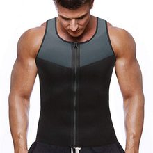 Bodyshaper Tops for Men Fashion Fitness Gym Neoprene Sauna tank top Waist Trainer Body Shaper Slimming Suit Zipper Vests(China)