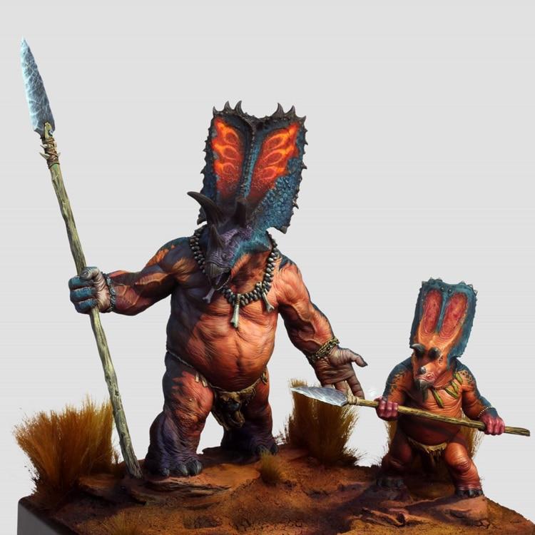 1:35 90mm Resin Figure Model Kit Chinese Dragon Unpainted Mythologic Figure