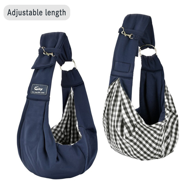 Cuby hands-free reversible small dog cat two rings sling carrier bag outdoor travel double-sided kangaroo pocket shoulder bags