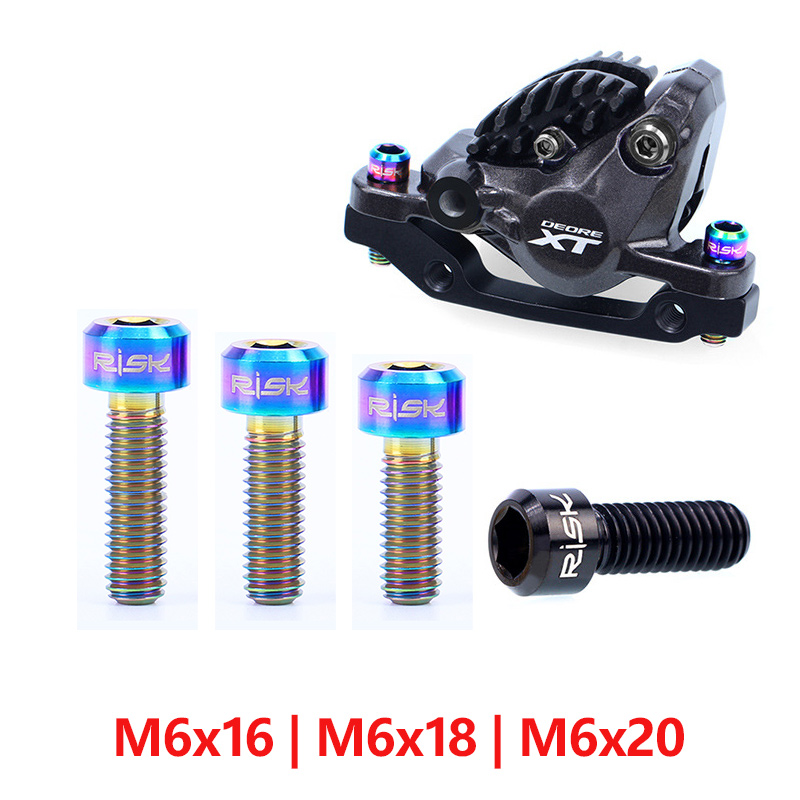 Bicycle Stem Bolts Set M5x18mm Hollow Fixing Screws MTB Road Bike Fasteners Kit