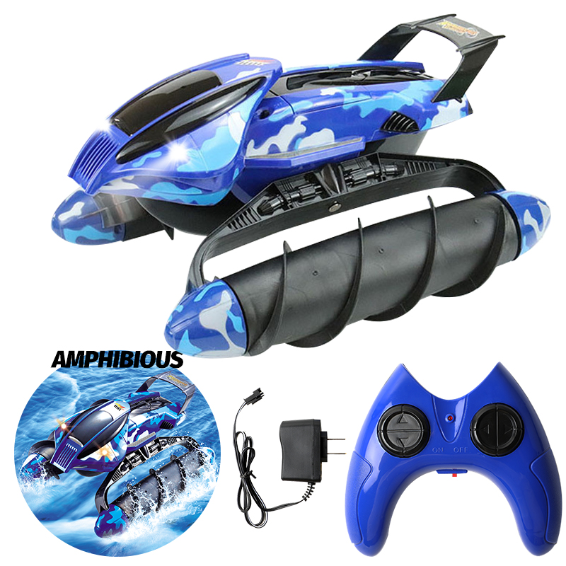 360 Degree Spins Waterproof Stunt Off Road Vehicle Racing Track Model Amphibious RC Electric vehicle snowmobile Beach car toy