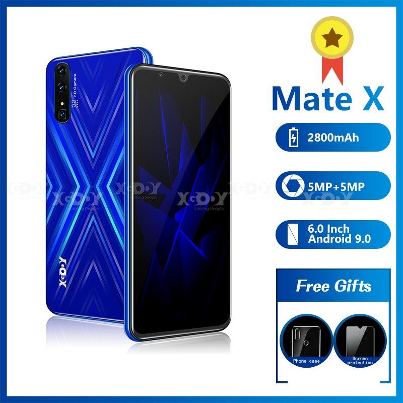 XGODY mateX 3G Смартфон Android 9,0 18:9 qHD MTK6580 2GB16GB 2800 мА/ч, Две сим-карты 5.0MP Камера GPS Wi-Fi 6
