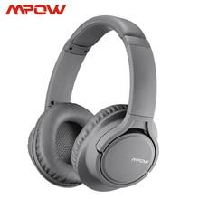 Mpow H7 18h çalma süresi üzerinde kulak Bluetooth kablosuz/kablolu mikrofonlu kulaklıklar yumuşak kulaklıklar 40mm sürücü PC için TV telefonları