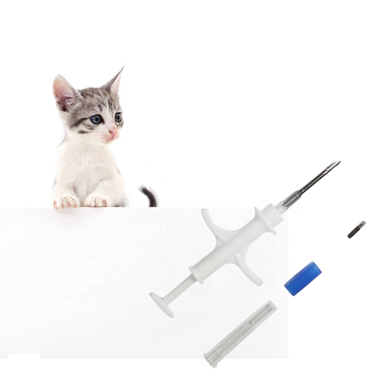(40pcs/Lot) ISO FDX-B 1.4x8mm Cat Dog Microchip Animal Syringe ID Implant Pet Chip Needle Vet RFID Injector PIT Tag