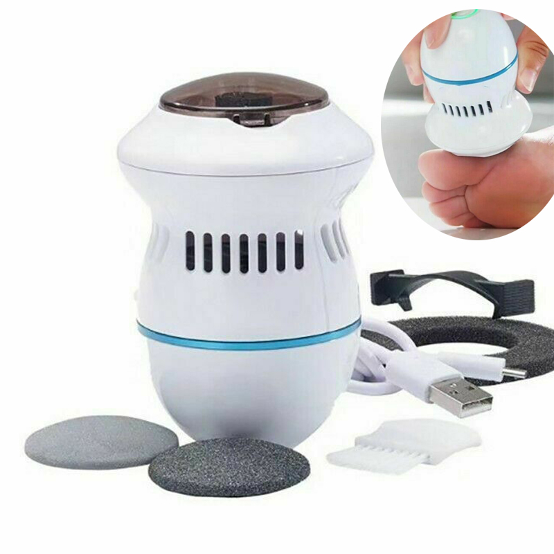 Electric Foot Grinder Vacuum Callus Remover Foot Pedicure Tools Rechargeable Foot Files Clean Tools for Hard Cracked Skin