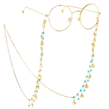 Fashion Rhinestone Shell Eyeglass Chain Reading Glasses Chains Metal Cord Sunglasses Neck Strap Holder Rope