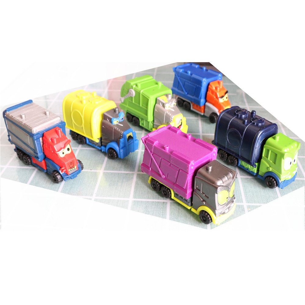 1pcs Superzings Garbage Truck Vehicles Model Toy Compatible 3cm Superzings Zomlings Anime Trush Action Figures Kids Xmas Gifts