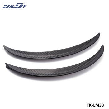 2pcs Universal Wheels Lip Fender Flares Auto Car Protector Cover Decorative Strip For Truck Car TK-LM33 image