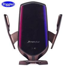 Qi kablosuz araba şarjı otomatik kelepçe 10W hızlı şarj tutucu forIphone11pro XR XS huawei P30Pro kızılötesi sensör telefon dağı