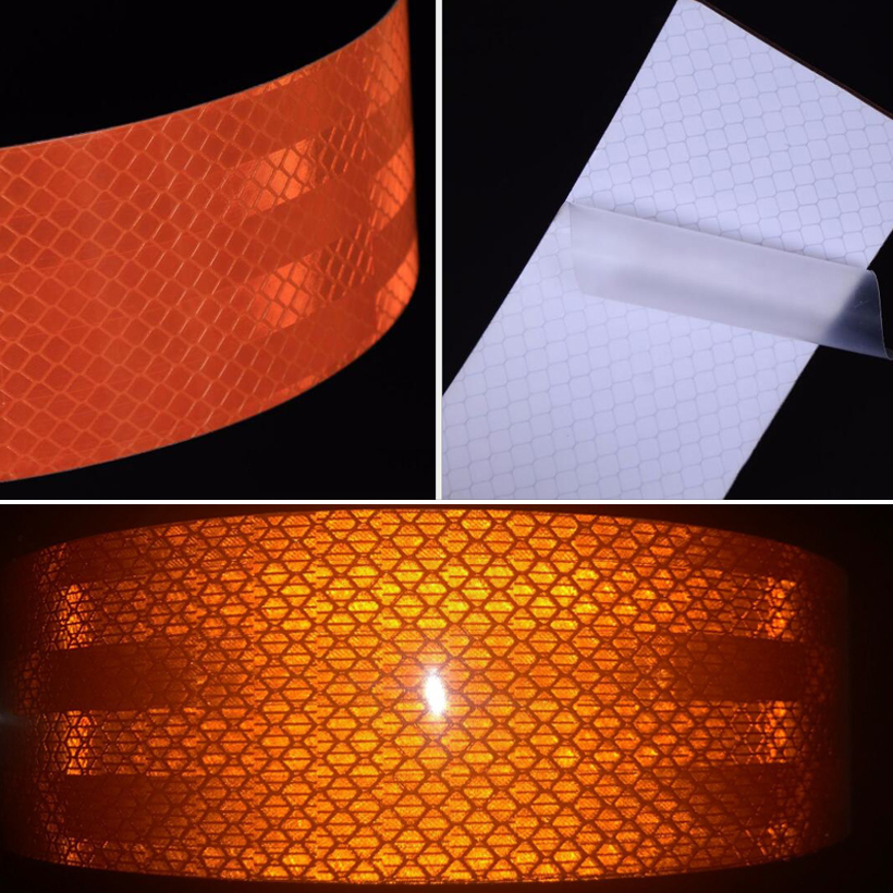 5cmx1m Car Rearview Mirror Reflective Stickers Safety Mark Car Strip Waterproof Anti-collision Warning Tape Car-styling