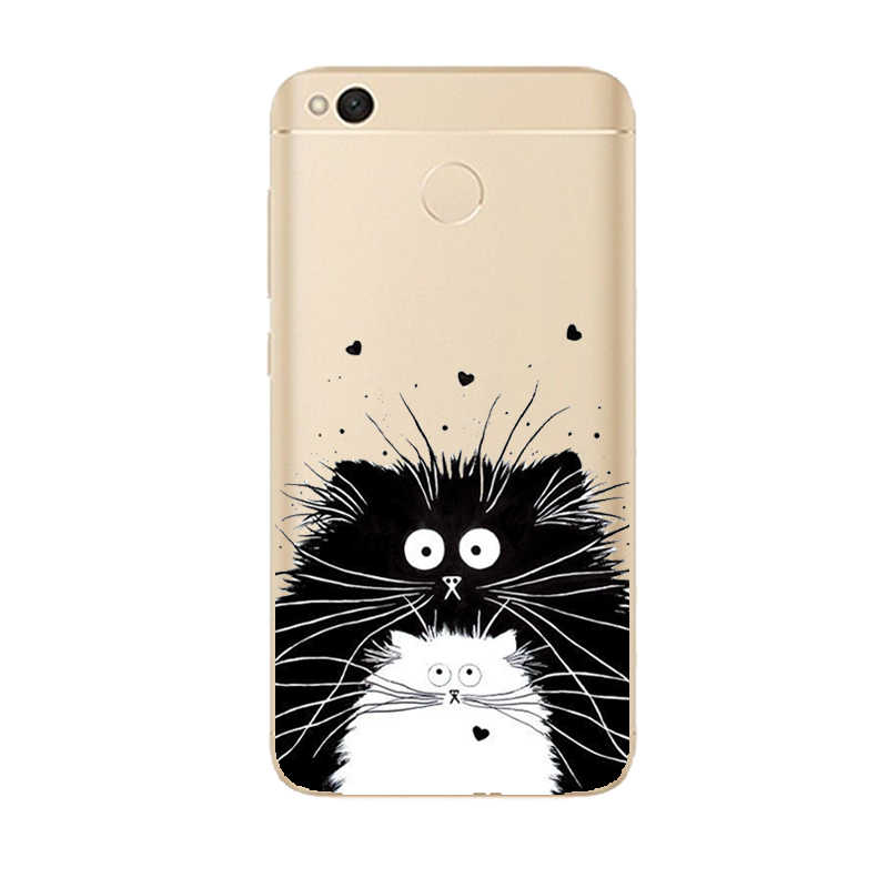 THREE-DIAO lindo de dibujos animados suave TPU caso para Xiaomi Redmi 4A 5 5Plus 5A 6 6A Pro Nota 4 4X funda de silicona fina 5A Pro