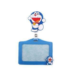 1 pcs New cartoon animals retractable badge reel silicone student nurse Exihibiton ID name card Badge clip 2020 office supplies