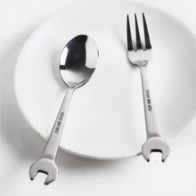 1pcs Stainless Steel Dessert Coffee Tea Spoons Creative Wrench Shape Spoon Forks