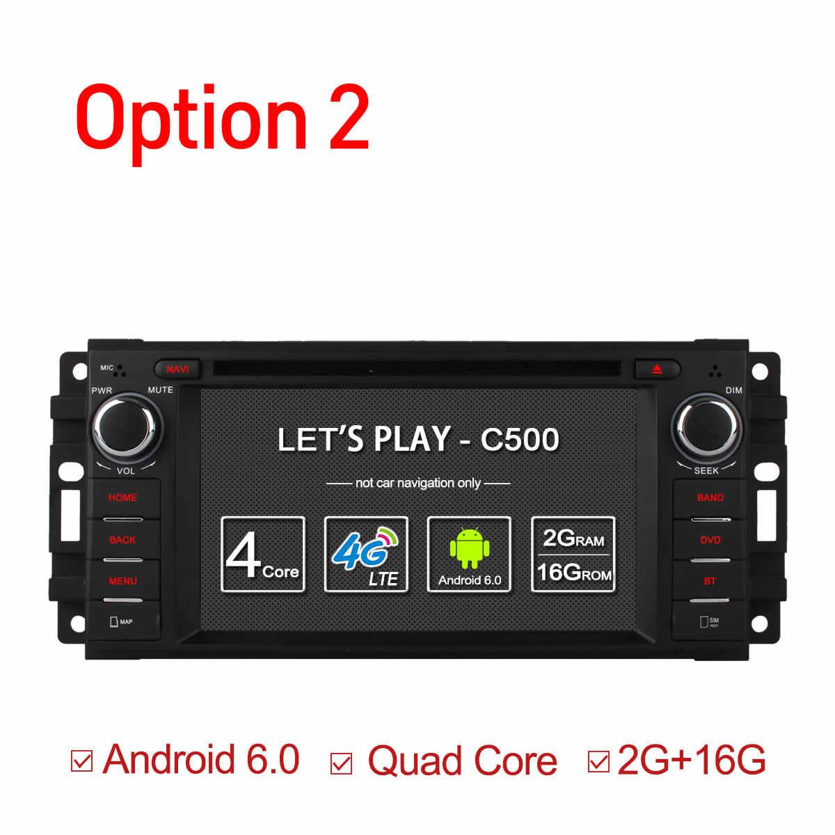 Ownice C500 Android 6,0 Octa Core reproductor de dvd de coche para Jeep grand wrangler 2015 patriota brújula viaje gps navi radio SIM 4G LTE