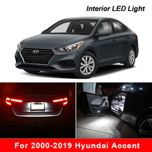 For 2000 2019 Hyundai Accent White car accessories Canbus Error Free LED Interior Light Reading Light Kit Map Dome License Lamp