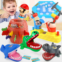 Interactive-Toys Party-Games Crocodile Funny Parent-Child Family Wolf Desktop Big