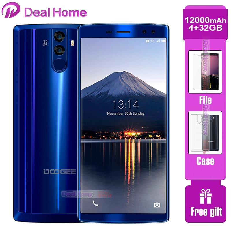"""DOOGEE BL12000 Big battery 12000mAh Smartphone 4GB 32GB 6.0""""18:9 FHD+ Screen 16MP+8MP 4 Cameras MT6750T Octa Core Cellphone"""