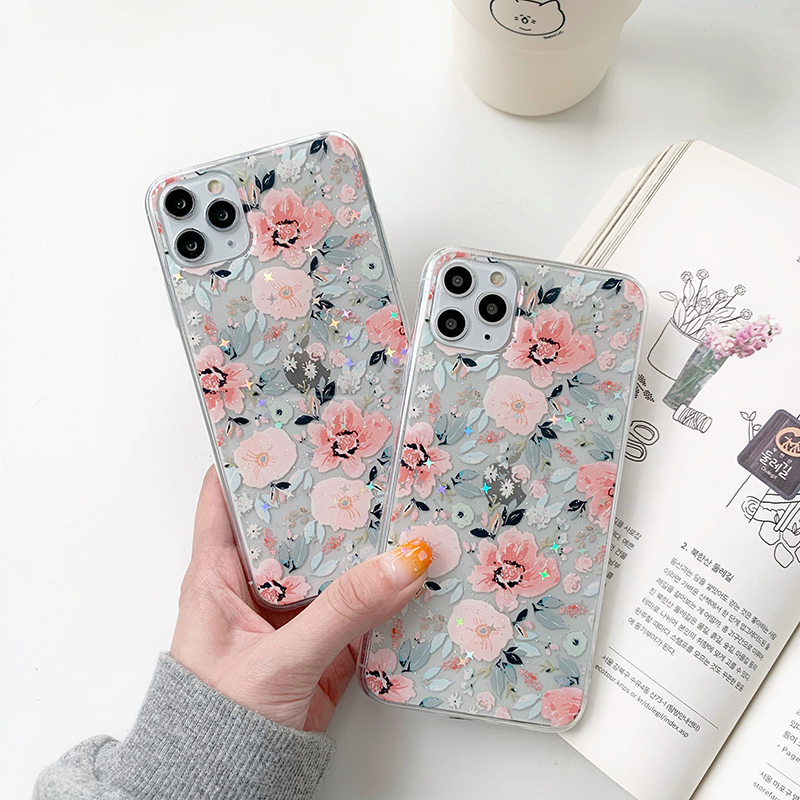 INS Hot Daisy Flowers Phone Case For iPhone 11 Pro X XR XS Max 6 6s 7 8 Plus Chrysanthemum Floral Soft TPU Silicone Back Cover image
