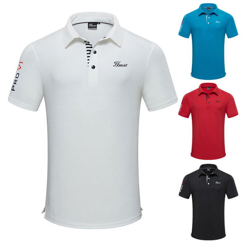 2021 Golf apparel men's short sleeve T-shirt summer speed dry Breathable polo shirt casual sports wear
