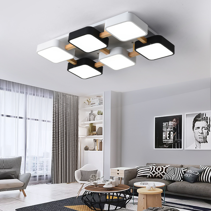 Led Ceiling Lights Modern Rectangle Nordic Simplicity With Remote Control Dimmable Fixture for Kitchen Bedroom Living Room