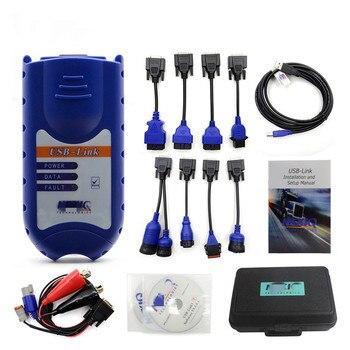USB Link 125032 With Blue Plastic Case Truck Fault Diagnostic Tester